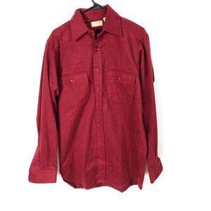 Vintage LL Bean Chamois Cloth Heavy Flannel Shirt